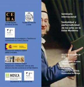 SEMINARIO INTERNACIONAL: TEATRALIDAD Y PERFORMATIVIDAD DE LAS ARTES EN LA EDAD MODERNA